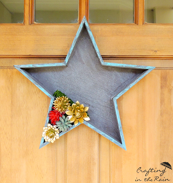DIY Patriotic Door Decor | Decorate your door for 4th of July, Memorial Day, and Labor day! This unique door decor will look great anytime of year. Crafting in the Rain for Today's Creative Life