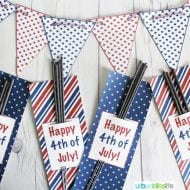 4th of July Printable Sparkler Holders