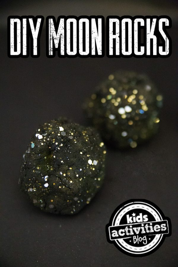 homemade moon rocks - kids craft project