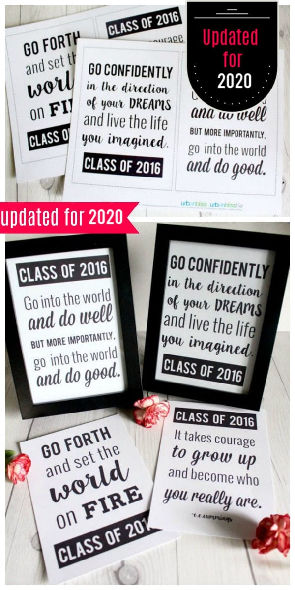 2020 graduation quotes in a printable
