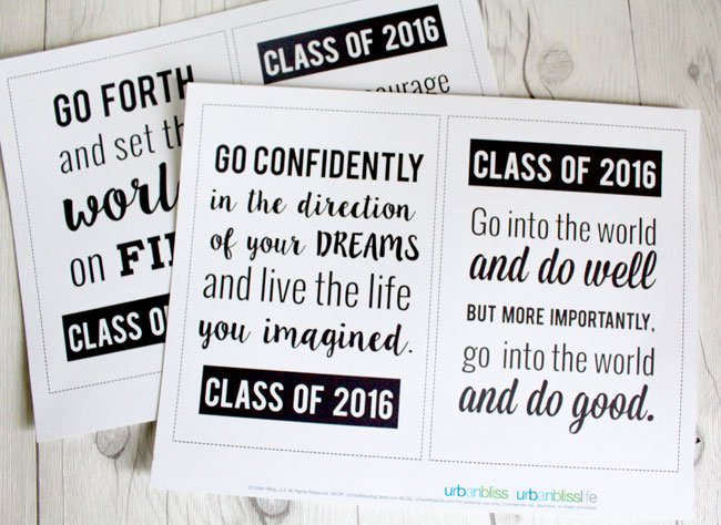 image regarding Free Graduation Printable called Commencement Offers No cost Printable Todays Inventive Daily life