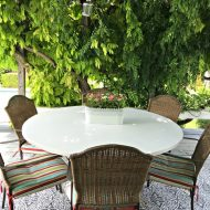Cleaning your Outdoor Table