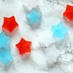 Patriotic Star Shape Ice Cubes | Simple and easy entertaining ideas for 4th of July, Memorial Day, or Labor day! Add a touch of red, white and blue in an unexpected place. Simple and easy! See more on Today's Creative Life
