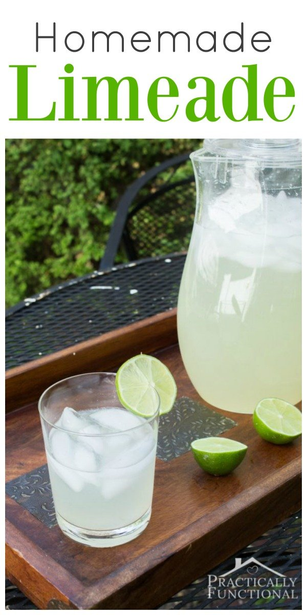 Limeade Homemade Recipe | Fresh easy and homemade recipe for limeade. Summer Drinks | TodaysCreativeLife.com