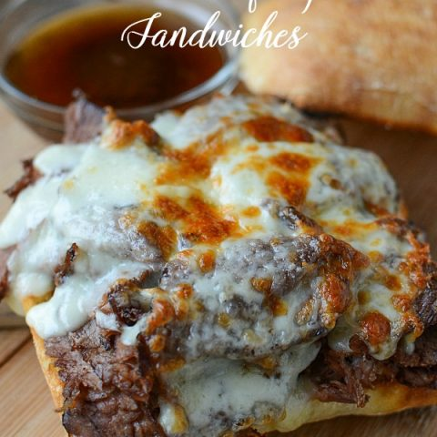 Slow Cooker Roast Beef Dipped Sandwiches