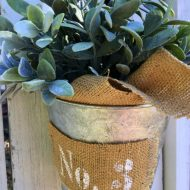 Farmhouse Galvanized Bucket
