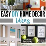 Easy DIY Home Decor Ideas |You'll love these 20 Easy DIY Home Decor Ideas that I've gathered. It doesn't have to be expensive to decorate your home and I'm proof of that! See more on TodaysCreativeLife.com