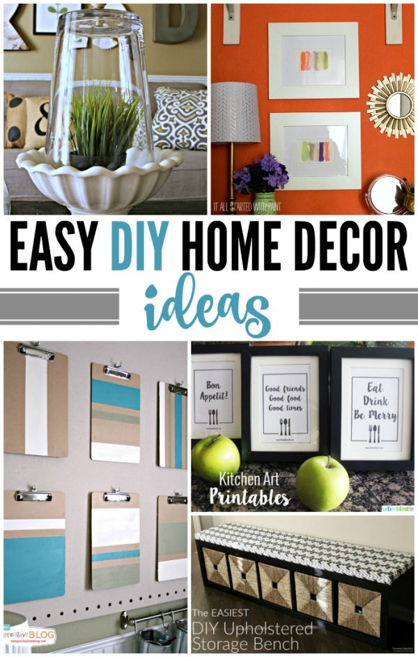 Easy diy home decor ideas today 39 s creative life Home design ideas diy