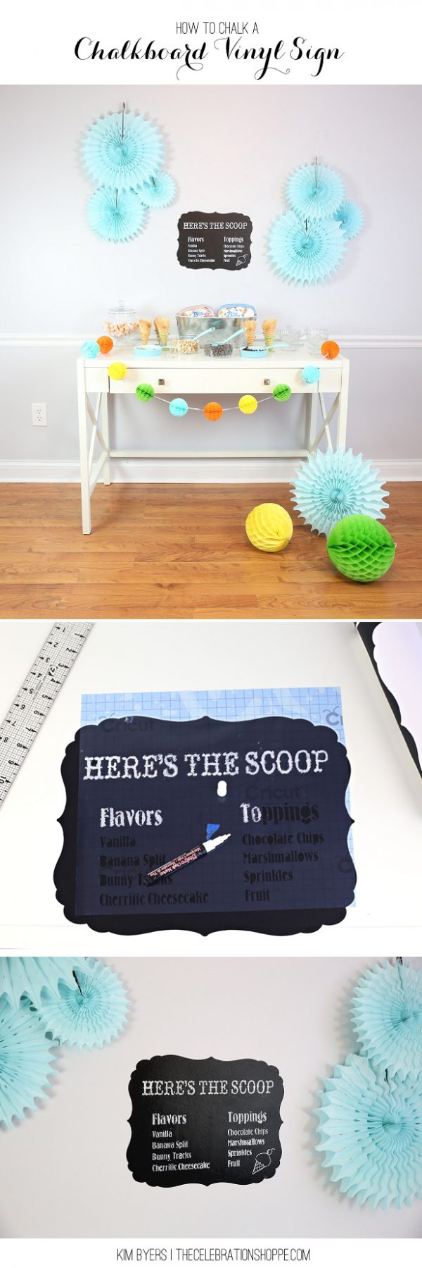 DIY Chalkboard Writing | Learn how to write fancy on a chalkboard with this easy tutorial. Chalkboard art doesn't have to be as difficult as you think. Kim from The Celebration Shoppe will show you how! See more on TodaysCreativeLife.com