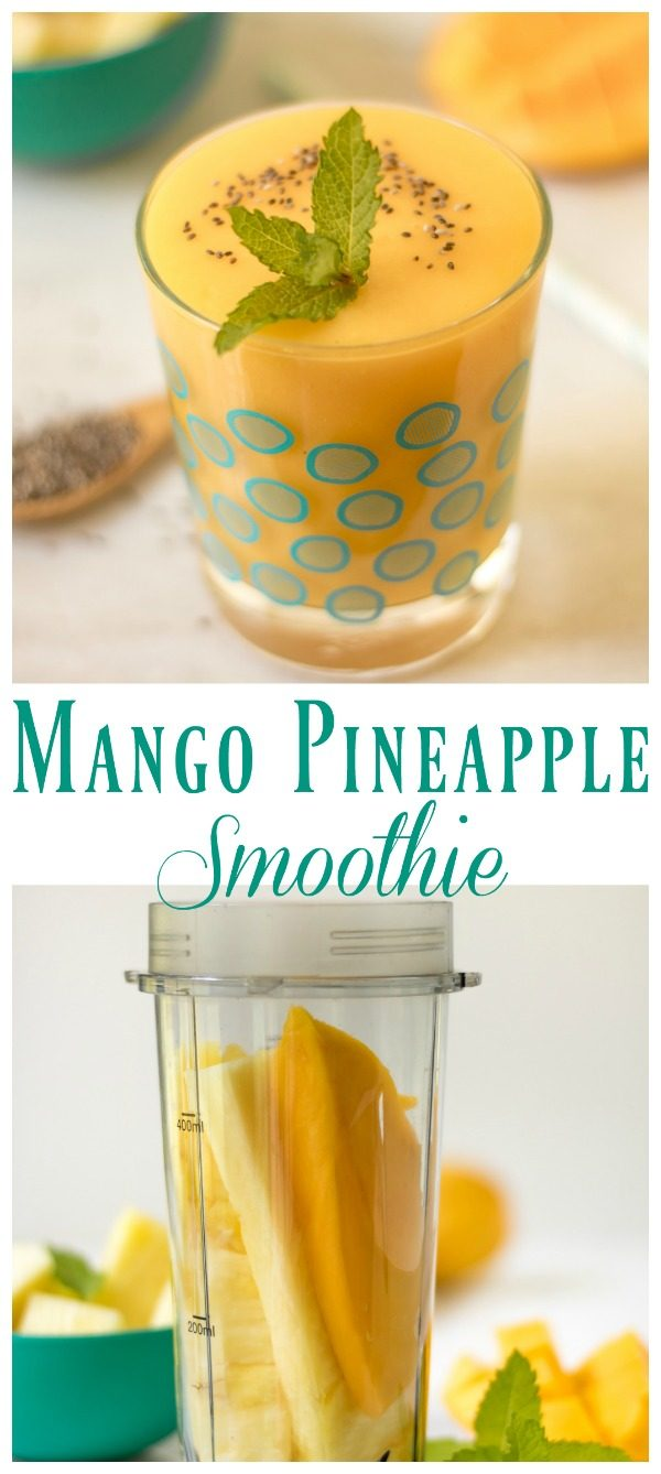 Mango Pineapple Smoothie | Whip up this 3 ingredient simple smoothie ...