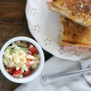Orzo Salad | this Italian Orzo Salad is bursting with flavor and ready for your summer BBQs. It's a great side dish for any meal, or grab a bowl for lunch. Find the recipe on Today's Creative Life (Recipe by The Taylor House)