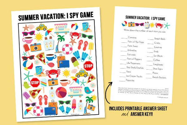 Summer vacation Printable by Live Laugh Rowe