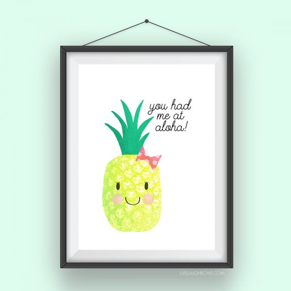 Pineapple Aloha Free Printable | TodaysCreativeLife.com