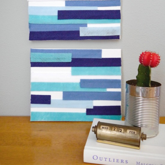 DIY Modern Wall Art | C.R.A.F.T. created this DIY room decor for the Celebrate Summer Series. Fast and easy wall decor is great for any room. See the tutorial on TodaysCreativelife.com