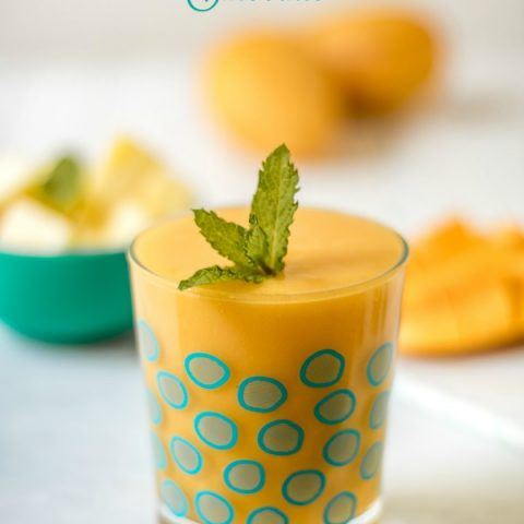 Mango Pineapple Smoothie | Whip up a simple and delicious smoothie that's full of nutrition. Fresh simple taste. TodaysCreativeLife.com