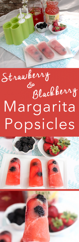 Strawberry Blackberry Margarita Popsicles | Make your own popsicles with ingredients you want. I love these adult version icy treats. My Crazy Good Life for Today's Creative Life