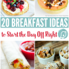20 Breakfast Ideas to Start your Day off Right   Great for back to school mornings, or the weekend. Find breakfast casseroles and more. TodaysCreativeLife.com