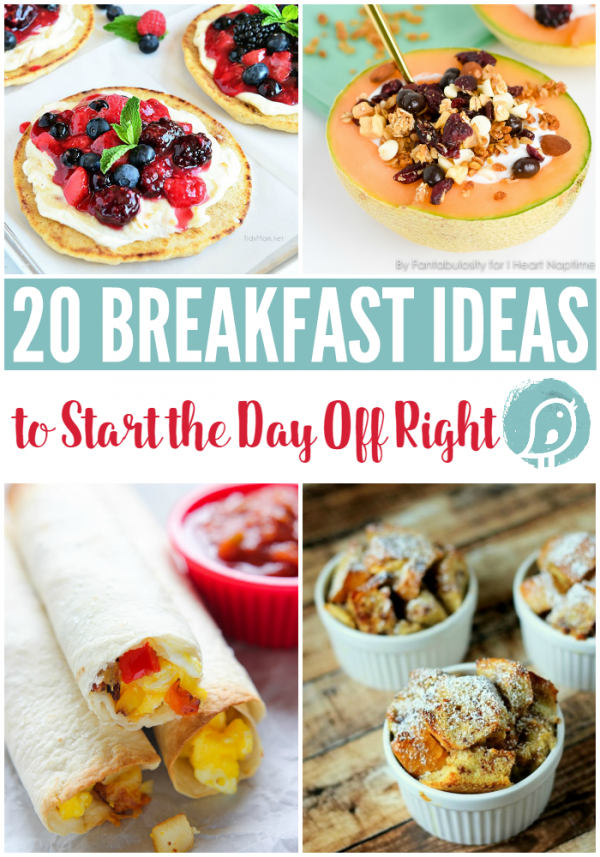 20 Breakfast Ideas to Start your Day off Right | Great for back to school mornings, or the weekend. Find breakfast casseroles and more. TodaysCreativeLife.com