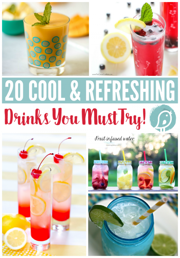 20 Cool and Refreshing Drinks You Must Try | Find summer drinks and cocktails for everyday or for entertaining! Find it at Today's Creative Life