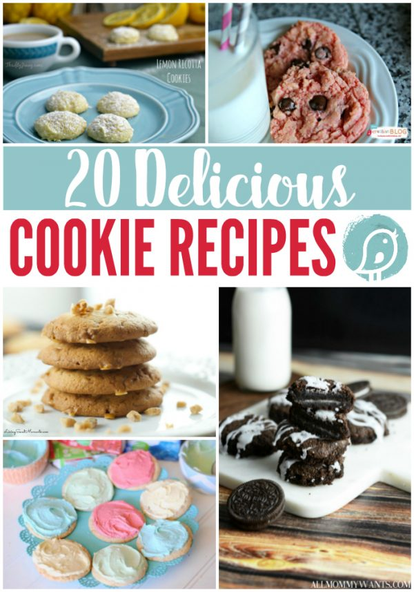 20 Delicious Cookie Recipes | I've gathered a list of cookie recipes full of flavor and variety. Some from scratch, some starting with a cake mix. See them all on TodaysCreativelife.com