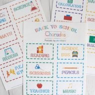 Back to School Charades Free Printable
