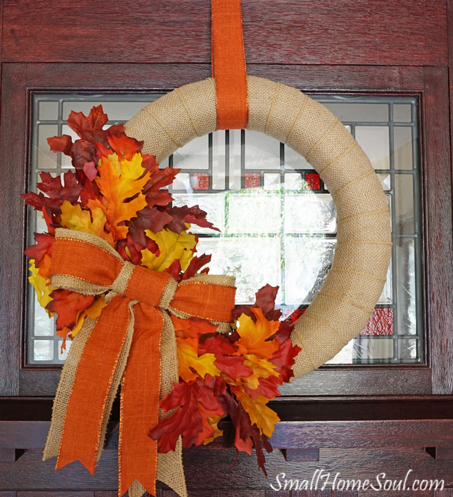 diy fall wreath tutorial today 39 s creative life. Black Bedroom Furniture Sets. Home Design Ideas