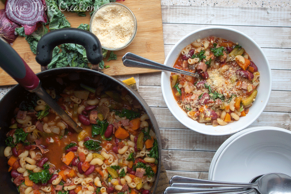 Minestrone Soup Recipe   This homemade Garden Minestrone Soup will have your family running to the dinner table! Perfect for fall and winter! It's the hearty soup you're looking for. See the recipe shared from Nap-Time Creations on Today's Creative Life