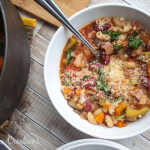 Minestrone Soup Recipe | This homemade Garden Minestrone Soup will have your family running to the dinner table! Perfect for fall and winter! It's the hearty soup you're looking for. See the recipe shared from Nap-Time Creations on Today's Creative Life