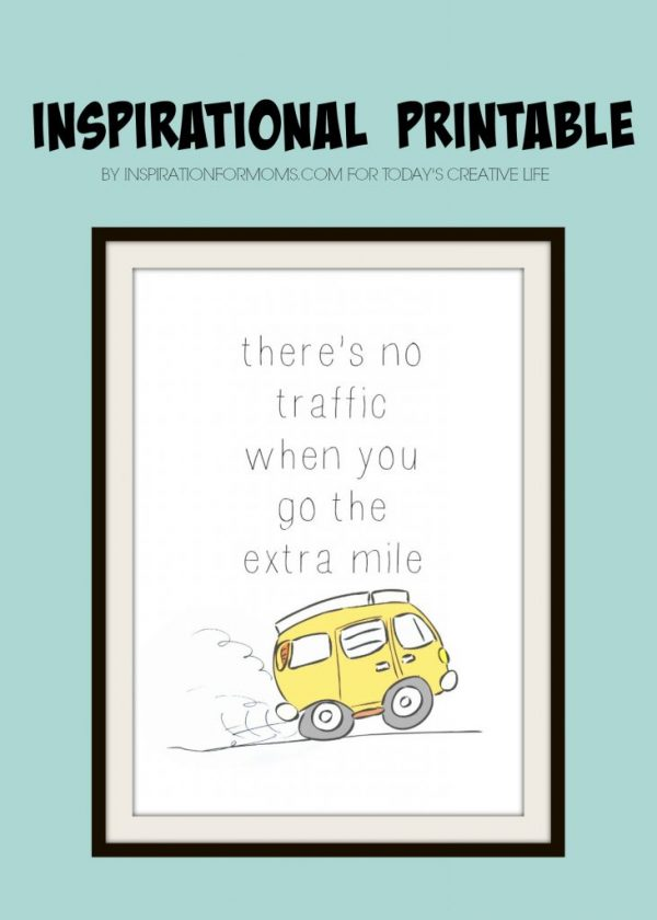 Inspirational Printable Wall Art makes it so easy to decorate! This one is perfect for a child's bedroom or play space. Shared by Inspiration For Moms for Today's Creative Life