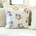 DIY Home Decor Hydrangea Pillow by Boxwood Ave for Today's Creative Life. Create your own home decor with iron on transfers. See the tutorial on TodaysCreativeLife.com