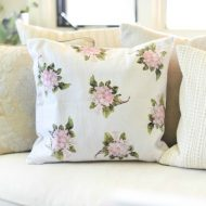 DIY Home Decor Hydrangea Throw Pillow