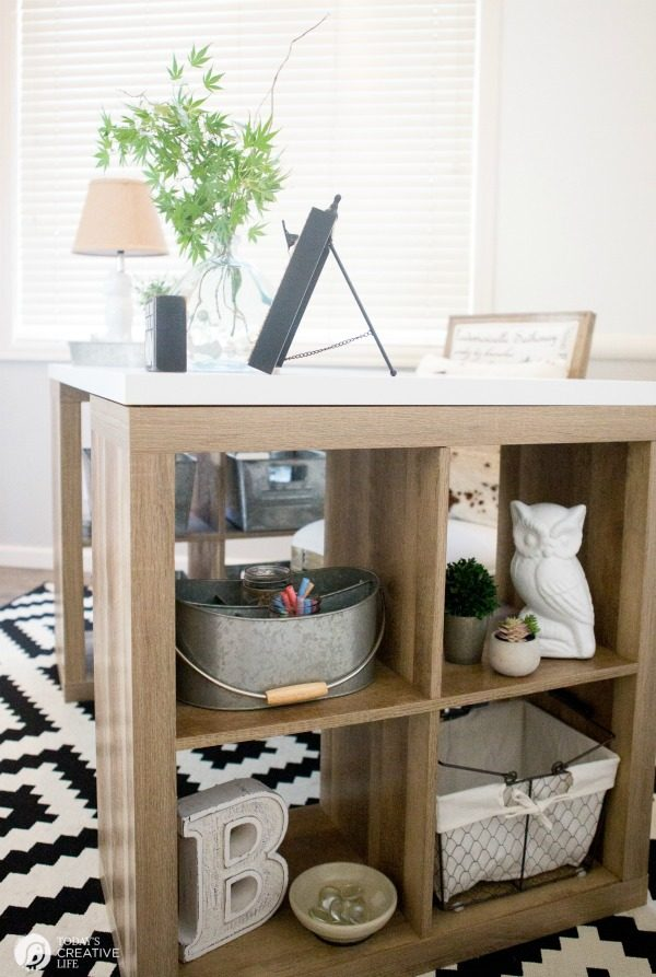 Farmhouse Office Makeover | This easy office makeover was easy and inexpensive using products from Better Homes and Gardens. See more at TodaysCreativeLife.com