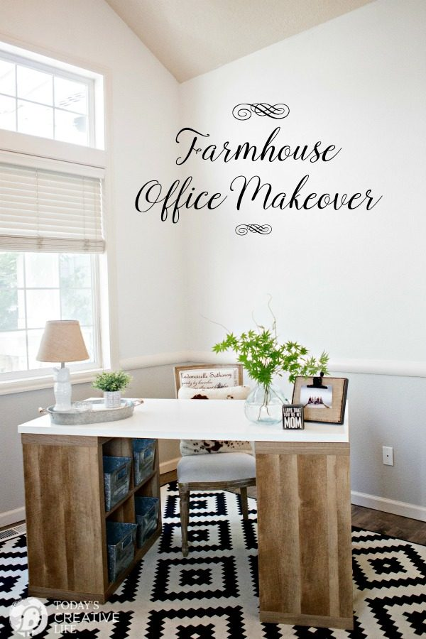 Exceptionnel Farmhouse Office Makeover | This Easy Office Makeover Was Easy And  Inexpensive Using Products From Better