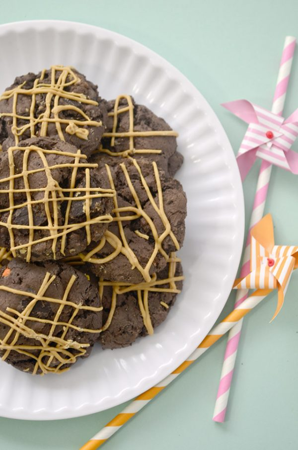 Chocolate Peanut Butter Cookies | This is the ultimate chocolate peanut butter cookie recipe. Shared my Pink Cake Plate for Today's Creative Life