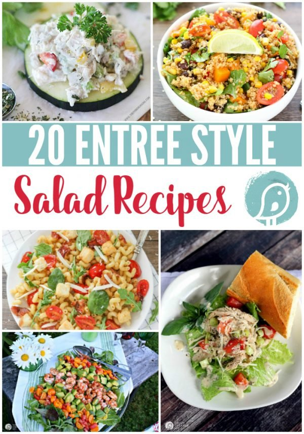 20 Delicious Salad Recipes | Salad Recipes that are perfect as sides or a full entree. You'll find several healthy salads on this list. TodaysCreativeLife.com