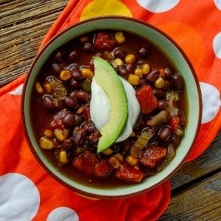 Slow Cooker Black Bean Soup | This satisfying crock pot soup is full of flavor and nutrition! A healthy choice for lunch or dinner! Click the photo for the recipe. TodaysCreativeLife.com