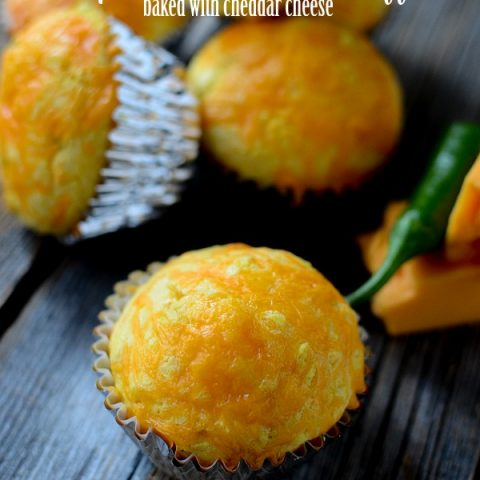 Jalapeno Cornbread Muffins baked with Cheddar Cheese | These cornbread muffins are great with my Enchilada soup or chili! Another easy dinner idea! Family friendly! See it on TodaysCreativeLife.com
