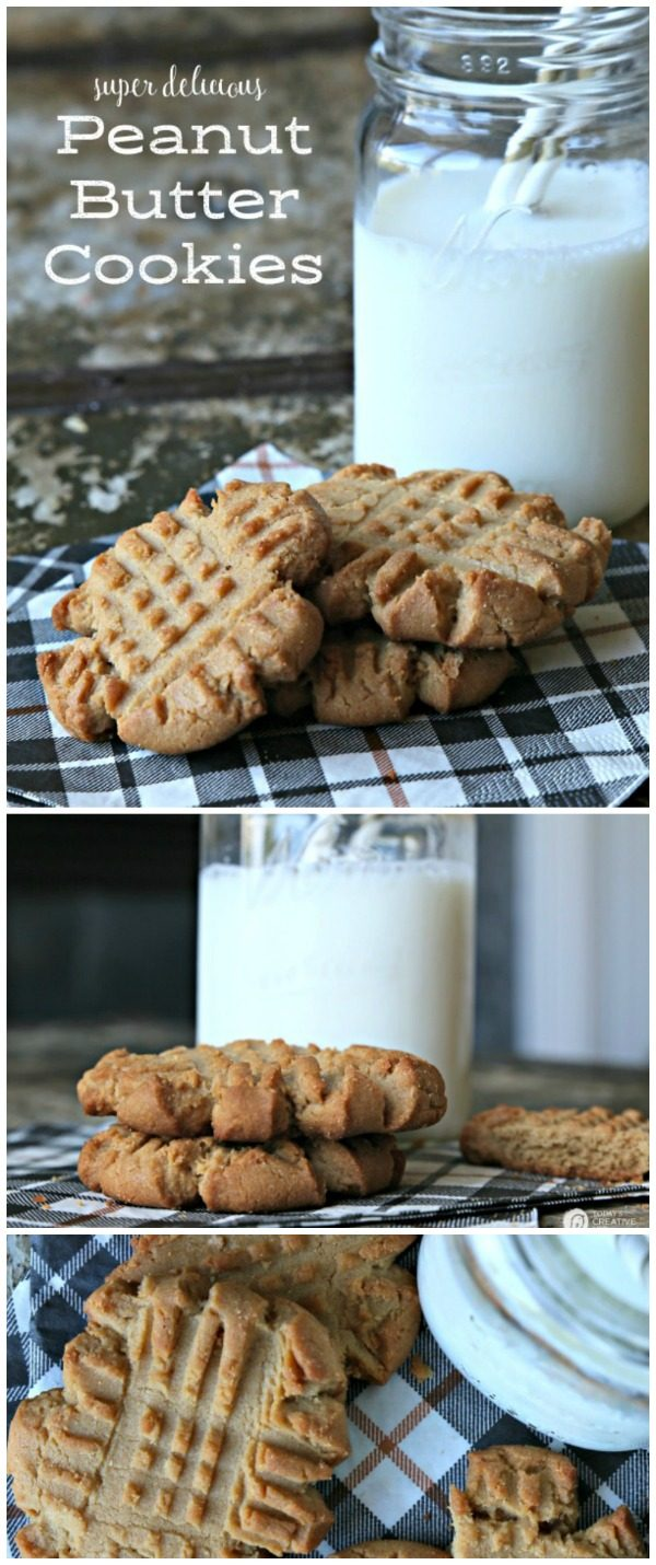 homemade Peanut butter Cookies photo collage
