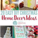 20 DIY Christmas Decorations | Find creative ways to decorate for Christmas with homemade decor ideas. Inexpensive holiday ideas for you!