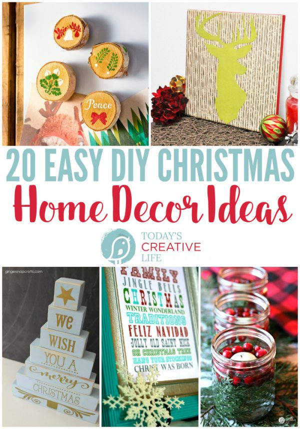 20 DIY Christmas Decorations | Find creative ways to decorate for Christmas with homemade decor ideas. Inexpensive holiday ideas to make yourself. Find it on TodaysCreativeLife.com