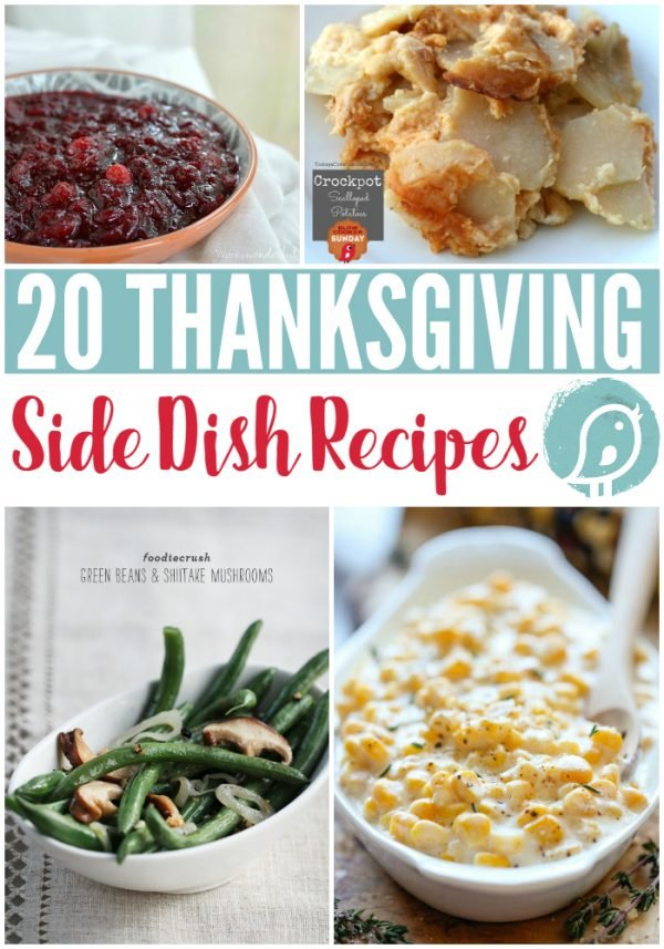 20 Thanksgiving Side Dish Recipes | You'll find slow cooker side dishes to traditional. Fill your table with something everyone will love. Easy Thanksgiving Menu planning. Click the photo for more! TodaysCreativeLife.com