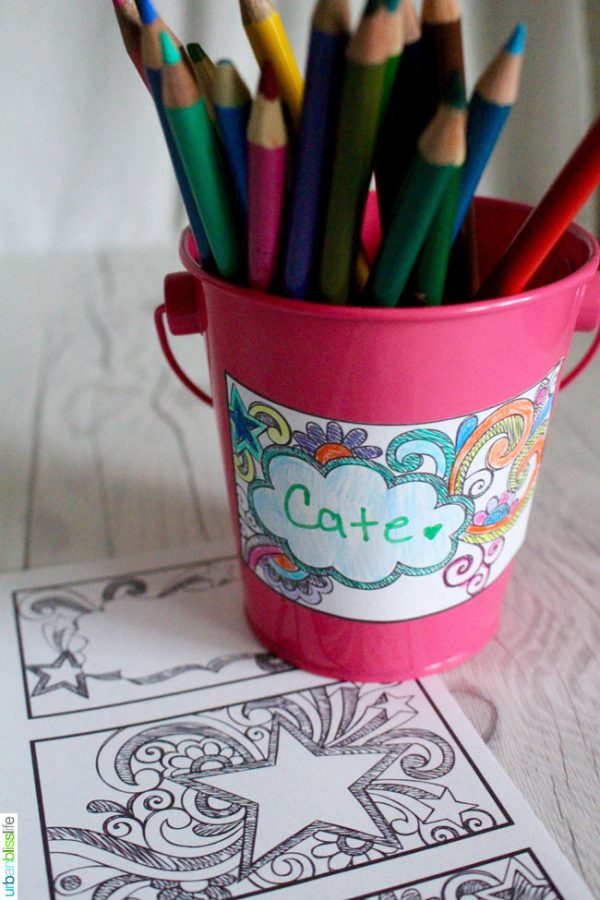 Printable Kids' Coloring Labels by UrbanBlissLife for Today's Creative Life. Free printable coloring pages full of fun labels! Click the photo for your free download.
