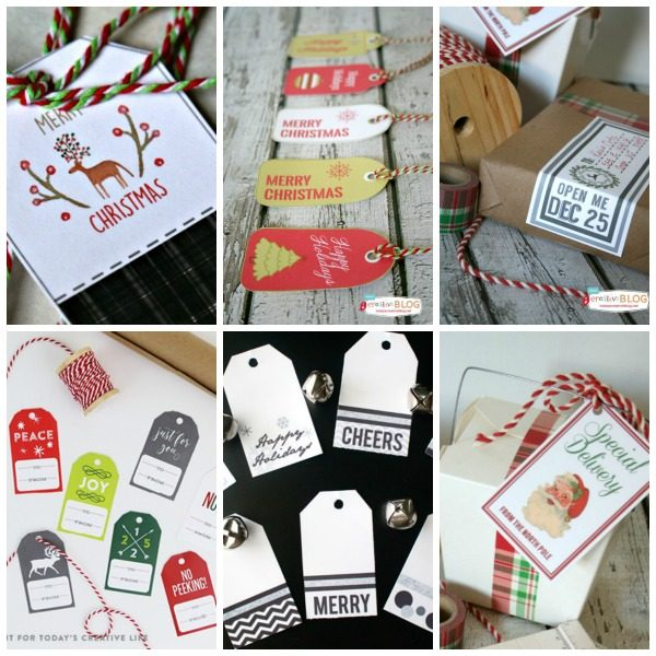 Free Printable Christmas Holiday Gift Tags | Find all your printable holiday needs at TodaysCreativeLife.com