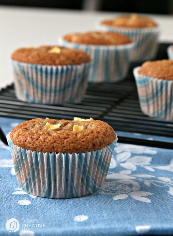 Apple Muffins | Whip up a batch of Cinnamon Spice Apple Muffins with this easy and quick recipe. Great for breakfast. Freeze the extras. Click on the photo for the recipe. TodaysCreativeLife.com