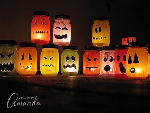 Halloween Jar Luninaries from Crafts by Amanda