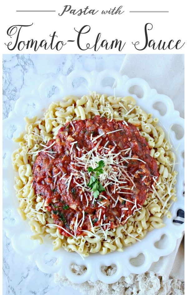 Pasta with Red Clam Sauce | Easy to make and delicious to eat. Italian taste with a simple recipe. Dinner ideas for any time. Click the photo for the recipe. Today's Creative Life