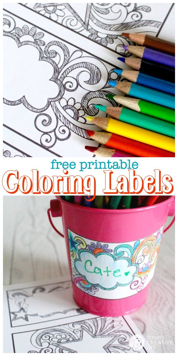 photo regarding Colored Printable Labels named Printable Small children Coloring Labels Todays Artistic Existence