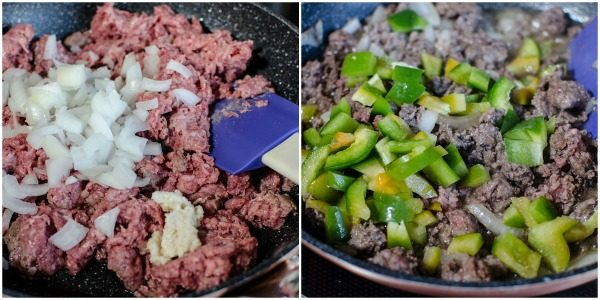 cooking ingredients for a sloppy Joes recipe