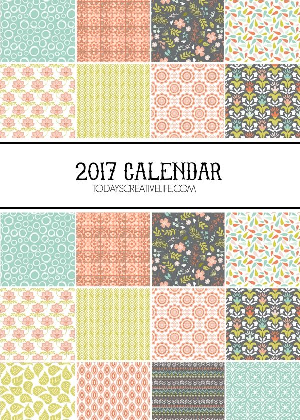 2017 Calendar Free Printable | Today'S Creative Life