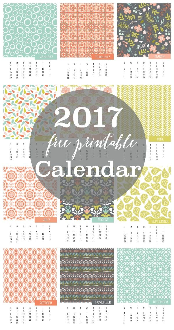 2017 Calendar Free Printable | Today\'s Creative Life